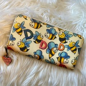 Dooney & Bourke Bumble Bee Zip Around Wallet